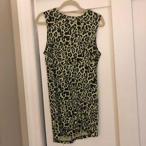 LNA leopard tank dress